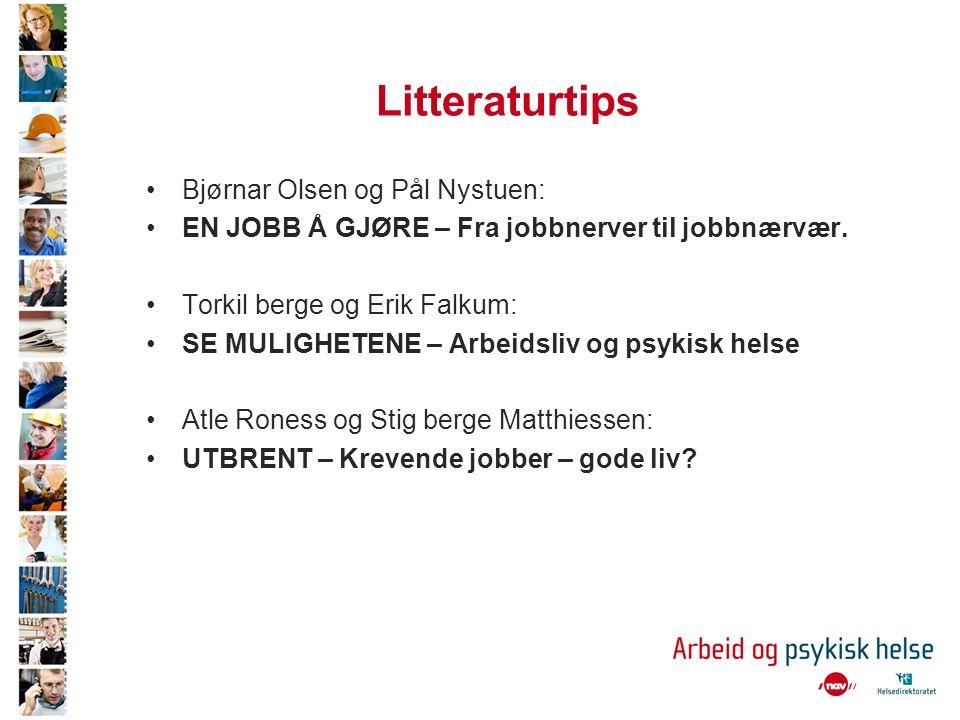 Litteraturtips Bjørnar Olsen og Pål Nystuen: EN JOBB Å GJØRE – Fra jobbnerver til jobbnærvær.
