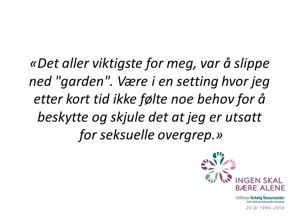 «Det aller viktigste for meg, var å slippe ned garden .