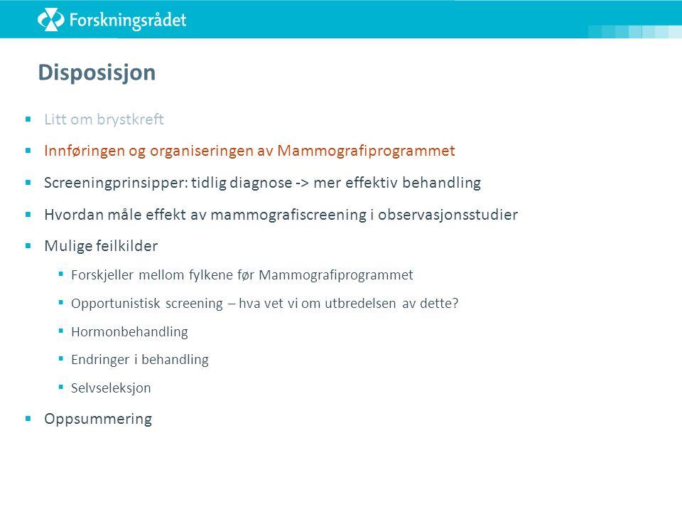 Endringer i behandling av brystkreft i Norge Tid 1981 2005 1995/96 Antihormonell behandling Cellegift – mer effektive typer, gis til flere Kirurgi – primærbehandling – stadig mindre omfattende Strålebehandling – gis til flere, men mer skånsomt Kilder: Blåboka 1.-7.