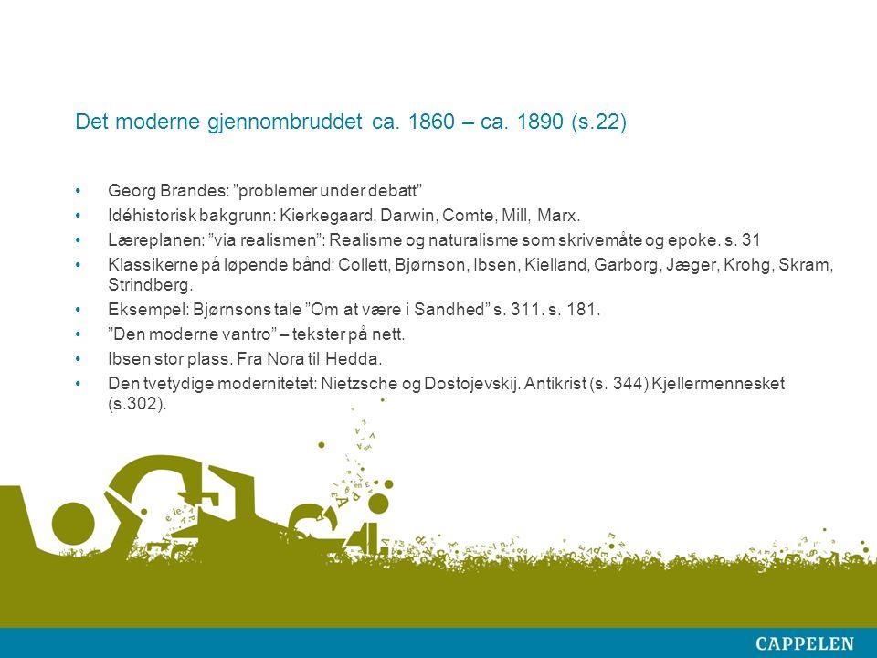 Modernistisk dramatikk Ibsen-tradisjonen svært dominerende i Norge.