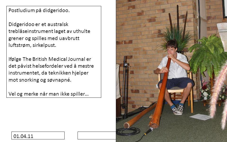 01.04.11 Postludium på didgeridoo.