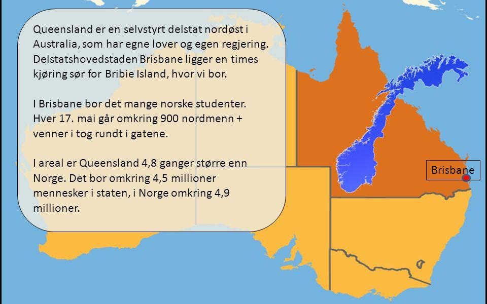 01.04.11 Brisbane Queensland er en selvstyrt delstat nordøst i Australia, som har egne lover og egen regjering.
