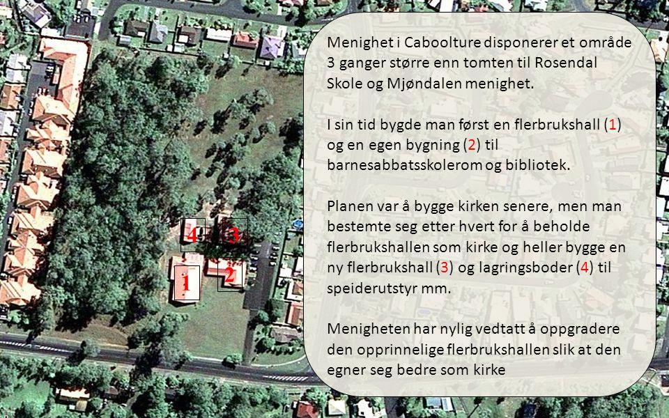 01.04.11 Menighet i Caboolture disponerer et område 3 ganger større enn tomten til Rosendal Skole og Mjøndalen menighet.