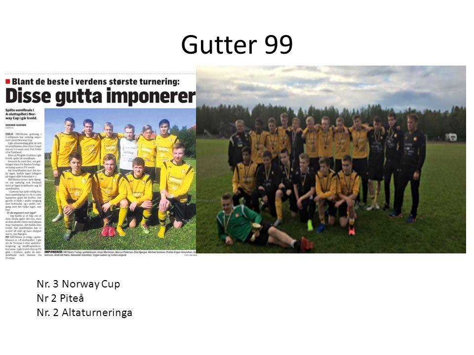 Gutter 99 Nr. 3 Norway Cup Nr 2 Piteå Nr. 2 Altaturneringa