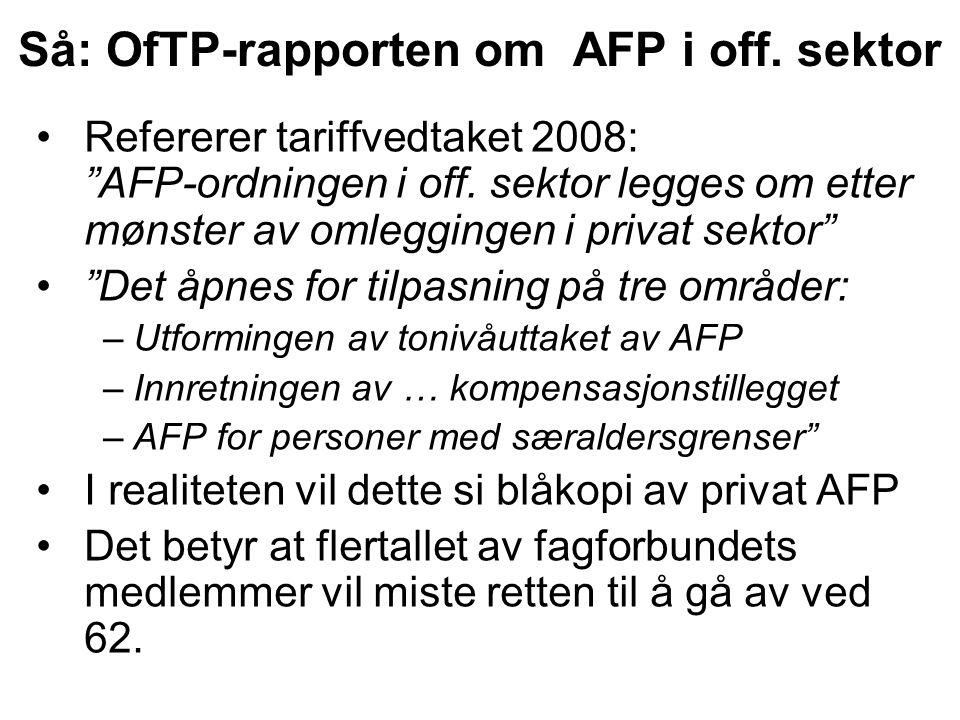 OfTP-rapporten om off.tjenestepensjon.