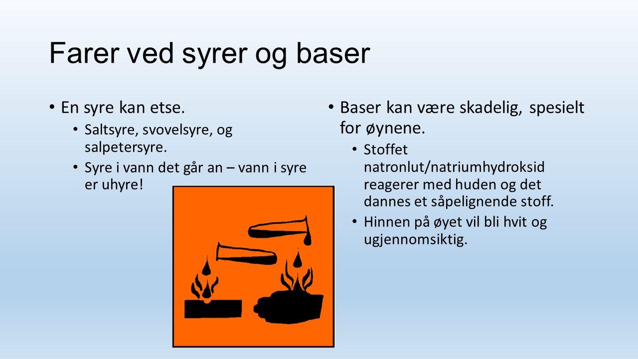 Kjekt å vite om syrer Bakepulver inneholder et surt stoff og natron.