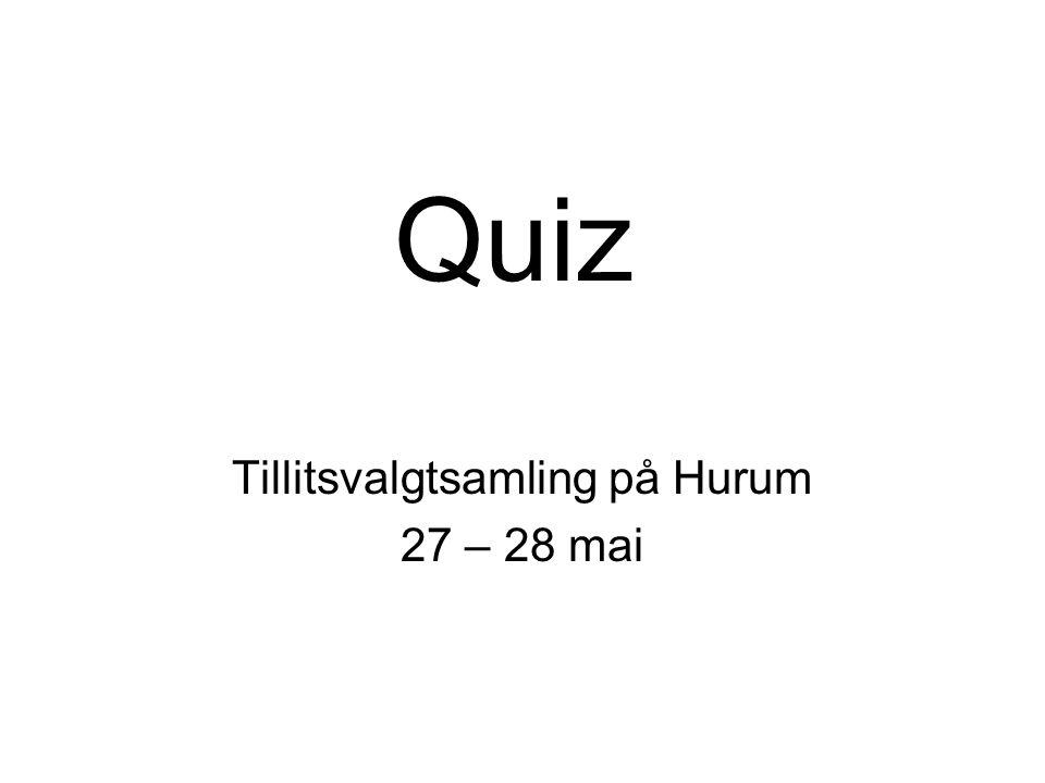 Quiz Tillitsvalgtsamling på Hurum 27 – 28 mai