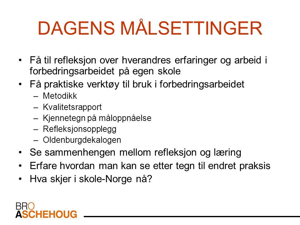 HSH RLM-prosjektet Bjørn Meling H 2008 14 Korleis ser målstreken vår ut.