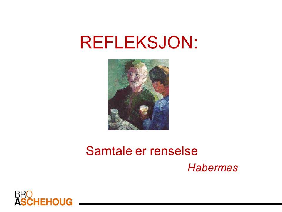 REFLEKSJON: Samtale er renselse Habermas