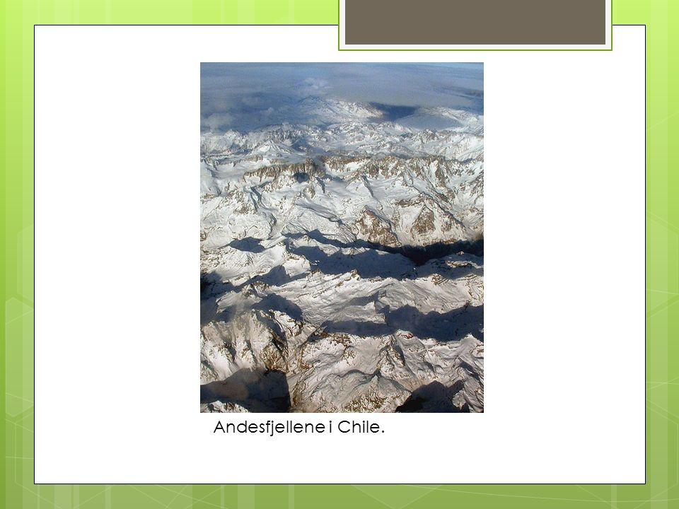 Andesfjellene i Chile.