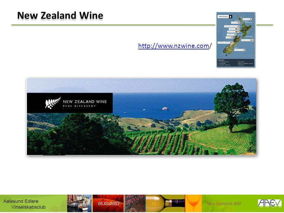 New Zealand Wine 01.02.2012 New Zealand- BBF10 http://www.nzwine.comhttp://www.nzwine.com/