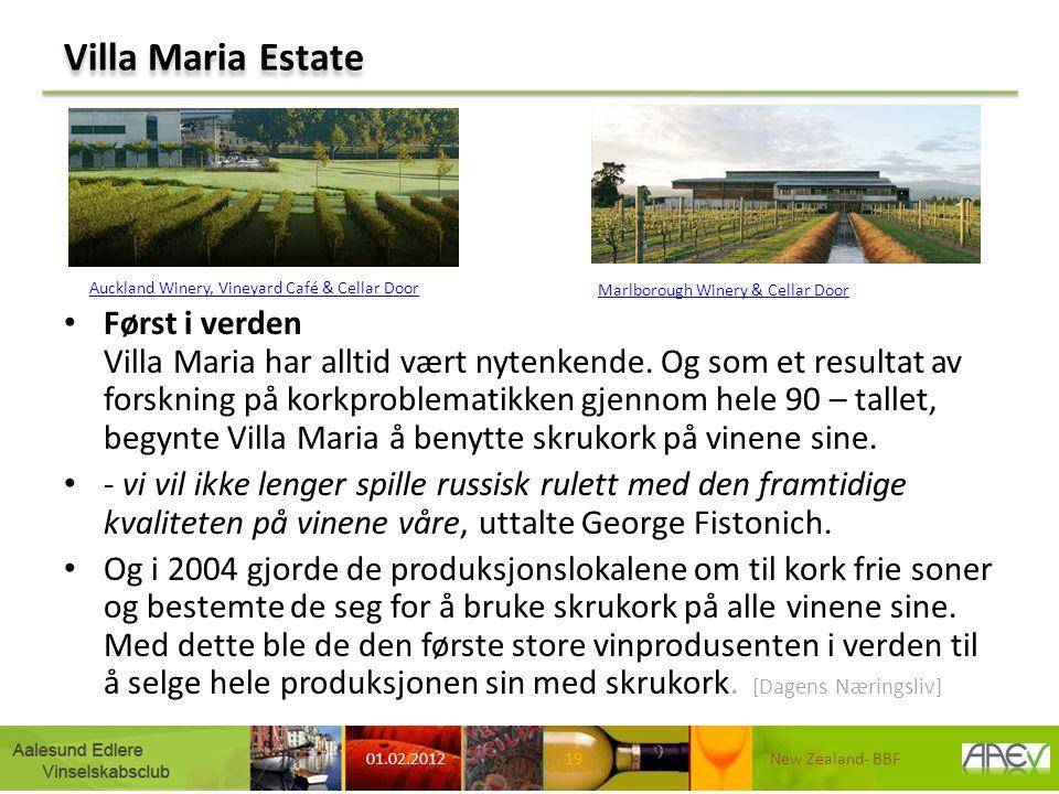 Villa Maria Estate Først i verden Villa Maria har alltid vært nytenkende. Og som et resultat av forskning på korkproblematikken gjennom hele 90 – tall