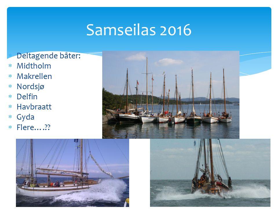  Deltagende båter:  Midtholm  Makrellen  Nordsjø  Delfin  Havbraatt  Gyda  Flere…. .