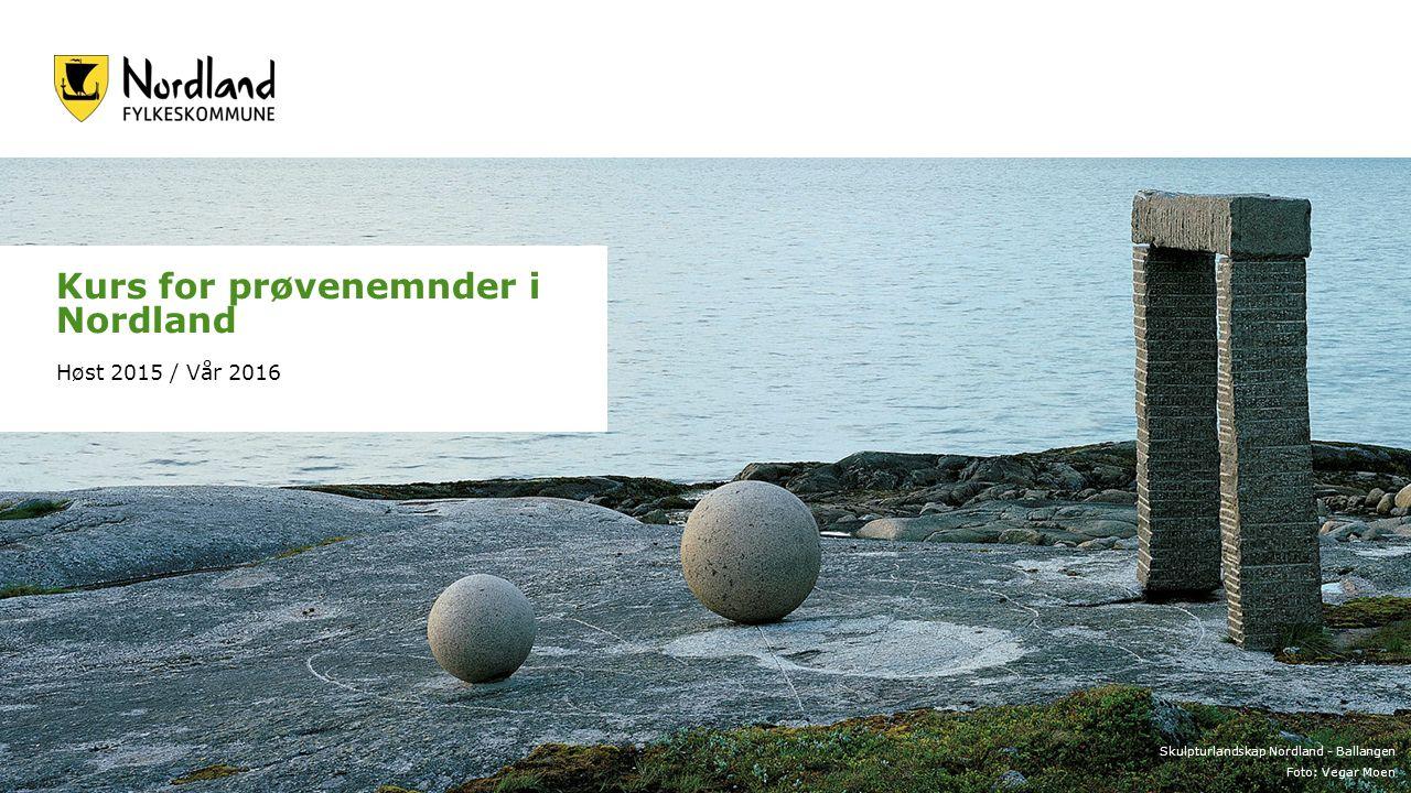 Skulpturlandskap Nordland - Ballangen Foto: Vegar Moen Kurs for prøvenemnder i Nordland Høst 2015 / Vår 2016