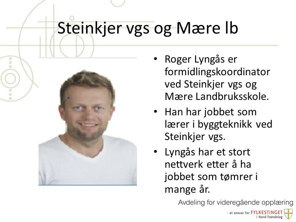 Steinkjer vgs og Mære lb Roger Lyngås er formidlingskoordinator ved Steinkjer vgs og Mære Landbruksskole.