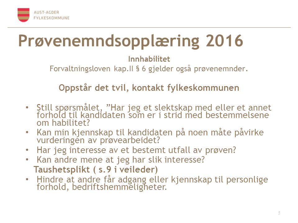 Prøvenemndsopplæring 2016 Sammensetningen av prøvenemnd Leder/ koordinator sørger for å fordele oppgavene i nemnda.
