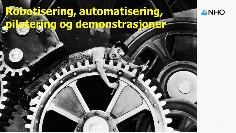 8 Robotisering, automatisering, pilotering og demonstrasjoner