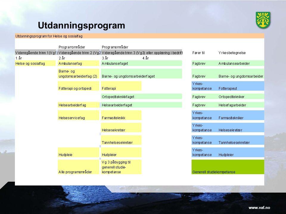 www.vaf.no Utdanningsprogram