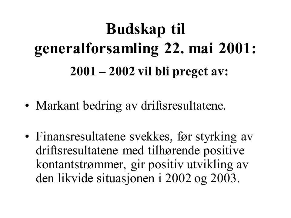 Andre inntekter Av dette Engangsgevinst i fjerde kvartal 2000 knyttet til overtakelse av UF/Kolstadgaten: 9,7 MNOK.