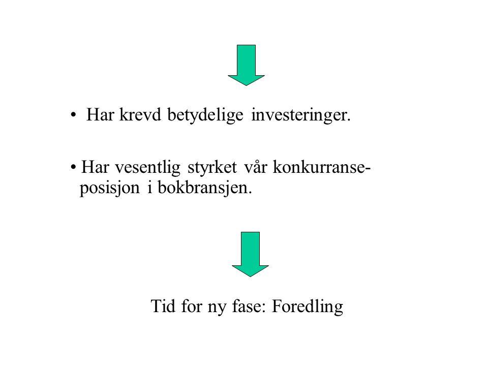 Framover: Fortsette de positive hovedtendensene Arbeide offensivt for å styrke vår posisjon som utgiver av ny, norsk skjønnlitteratur.