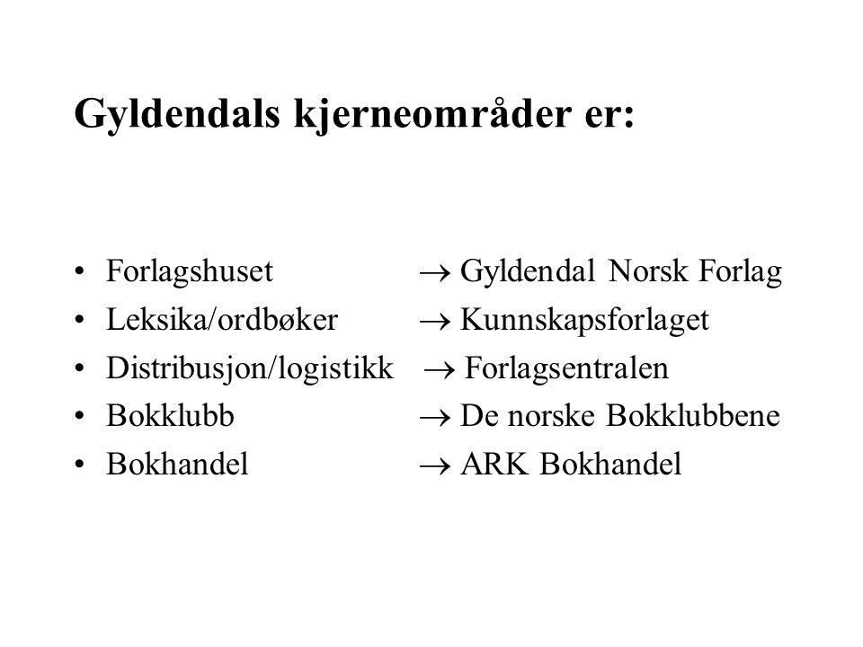 Konkurransesituasjonen i den norske bokbransjen Gyldendal vil arbeide på alle hovedområder i bransjen.