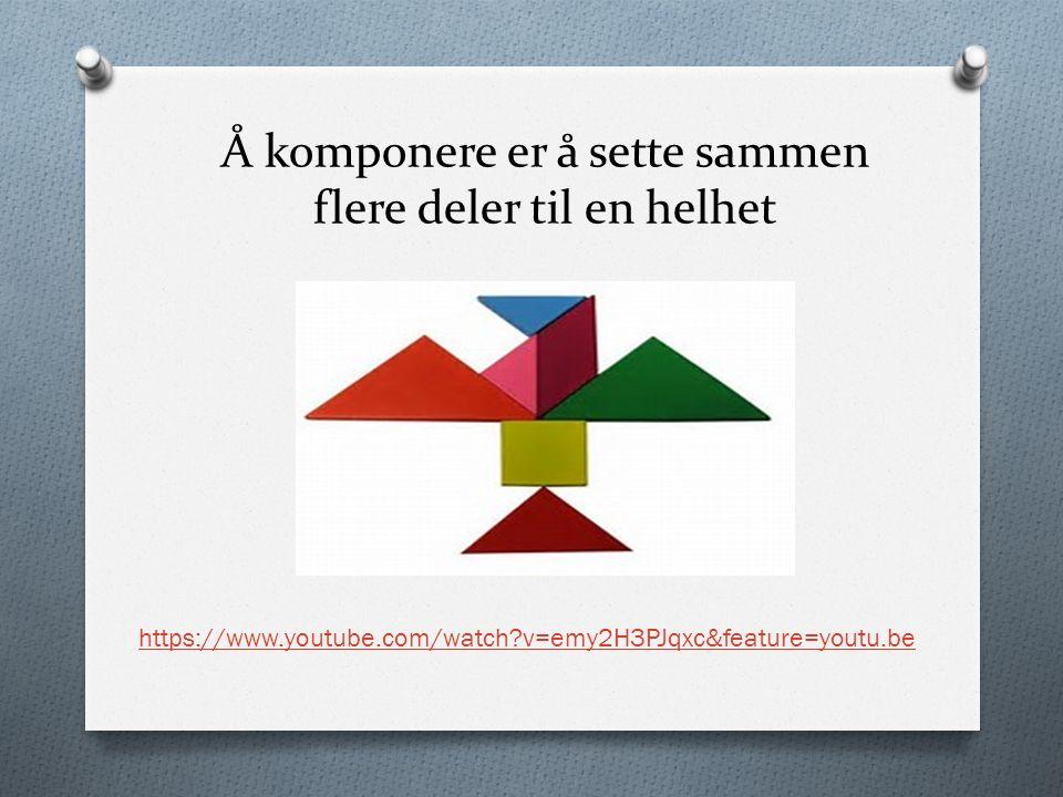 Å komponere er å sette sammen flere deler til en helhet https://www.youtube.com/watch v=emy2H3PJqxc&feature=youtu.be