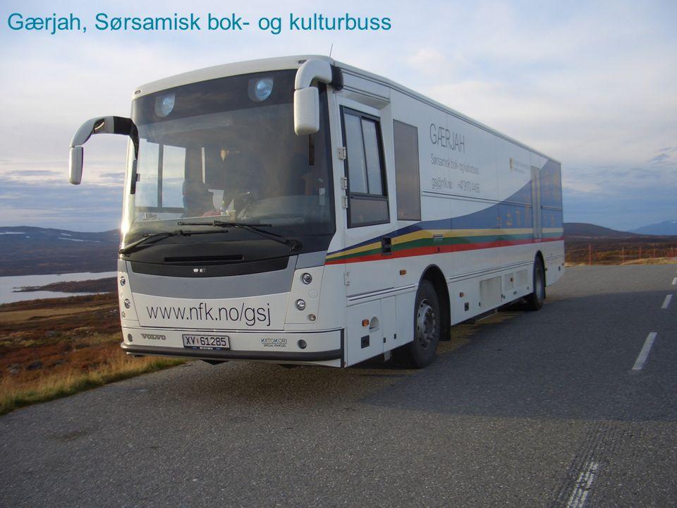 Sørsamisk bok- og kulturbuss ble etablert i 1995, vi feiret 20 år i fjor.