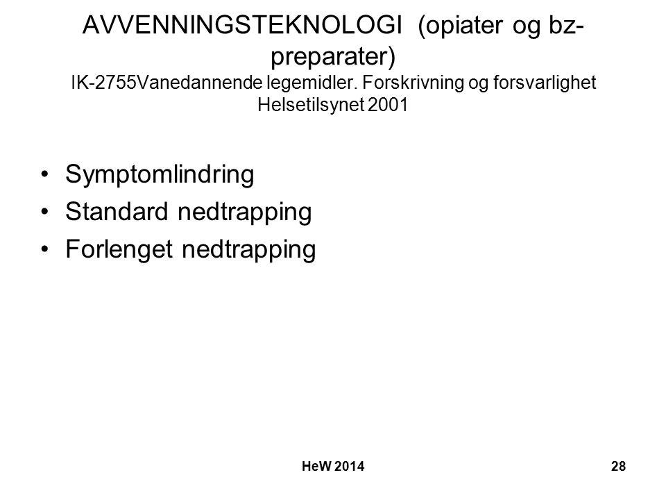 AVVENNINGSTEKNOLOGI (opiater og bz- preparater) IK-2755Vanedannende legemidler.