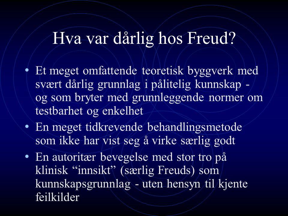 Hva var dårlig hos Freud.