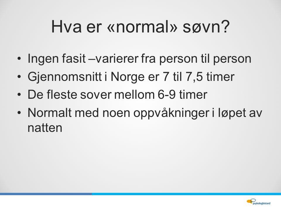 Hva er «normal» søvn.