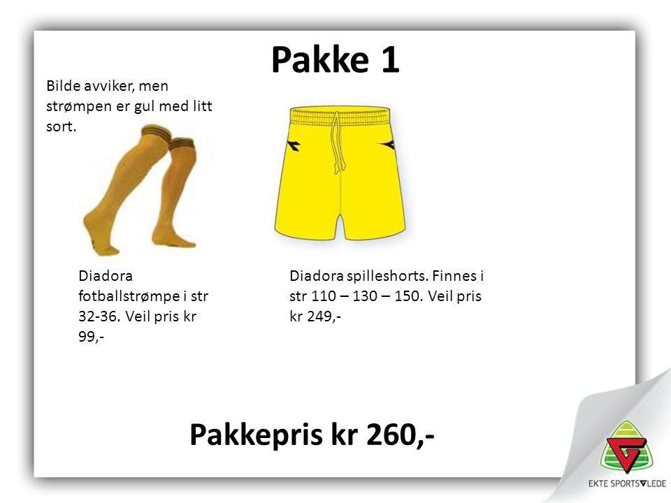 Pakke 1 Diadora fotballstrømpe i str 32-36.