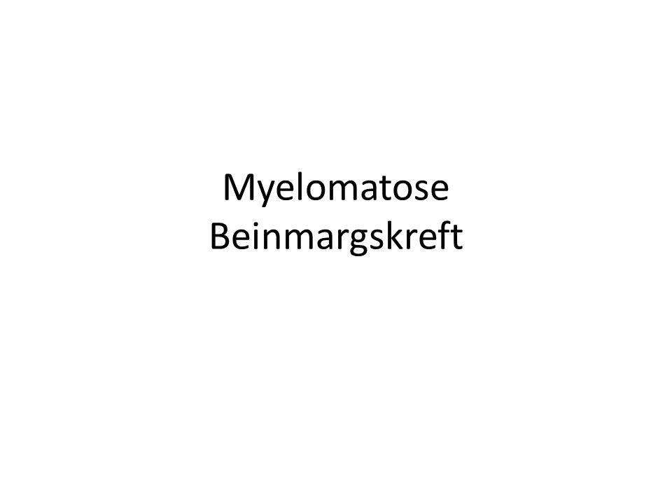 Myelomatose Beinmargskreft