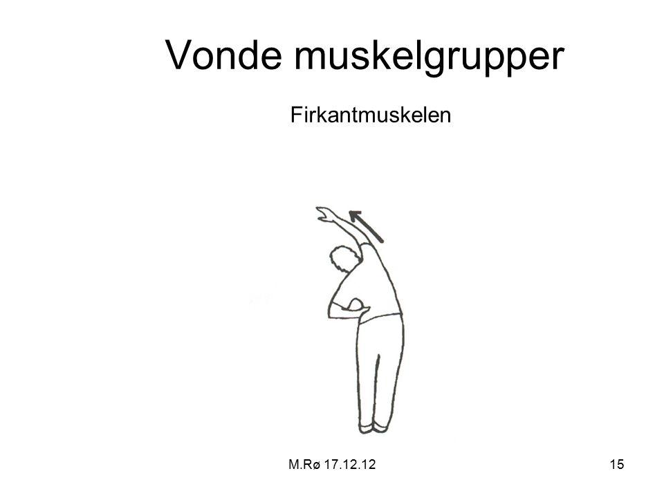 M.Rø 17.12.1215 Vonde muskelgrupper Firkantmuskelen