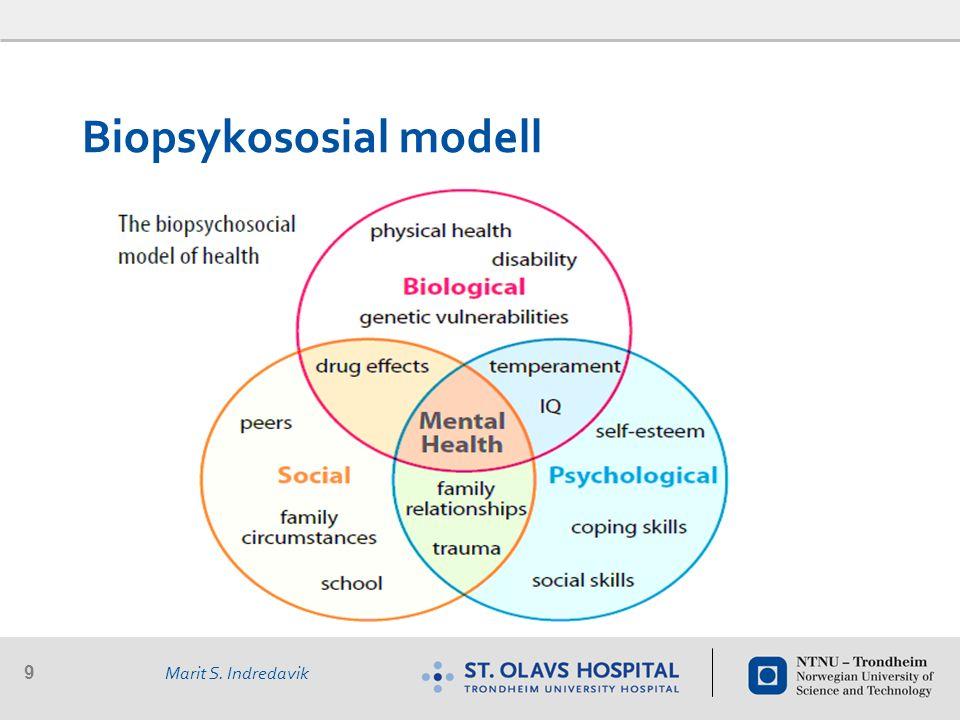 9 Marit S. Indredavik Biopsykososial modell
