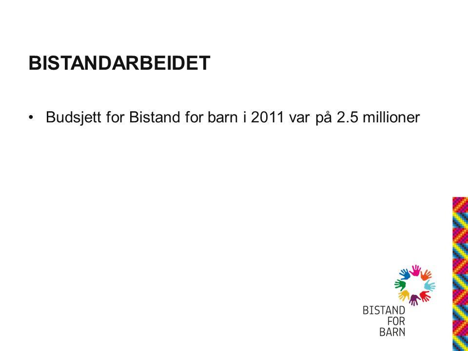 BISTANDARBEIDET Budsjett for Bistand for barn i 2011 var på 2.5 millioner