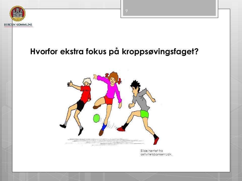 Hvorfor ekstra fokus på kroppsøvingsfaget? 9 Bilde hentet fra aktivitetsbanken Udir.