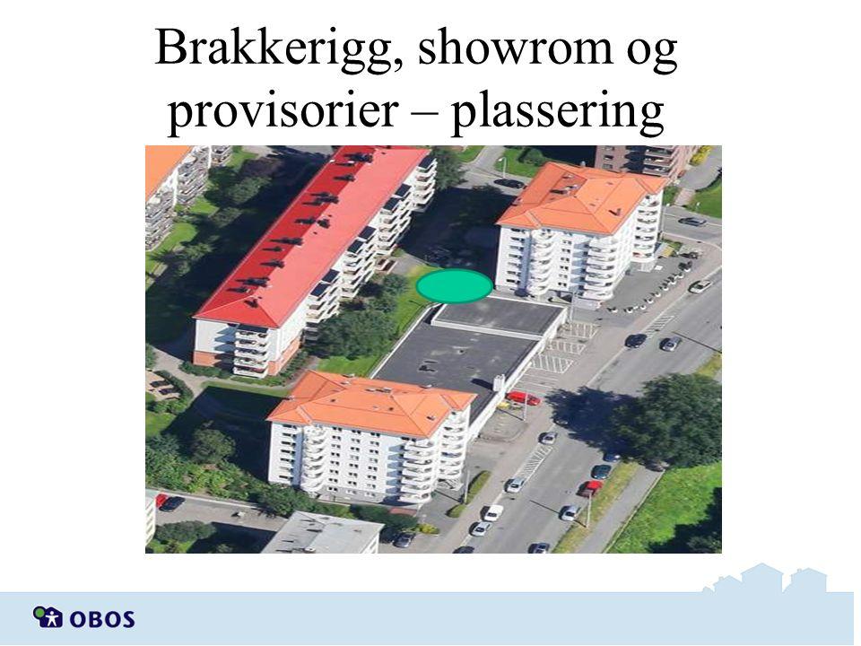Brakkerigg, showrom og provisorier – plassering Brakkerigg/ Showrom