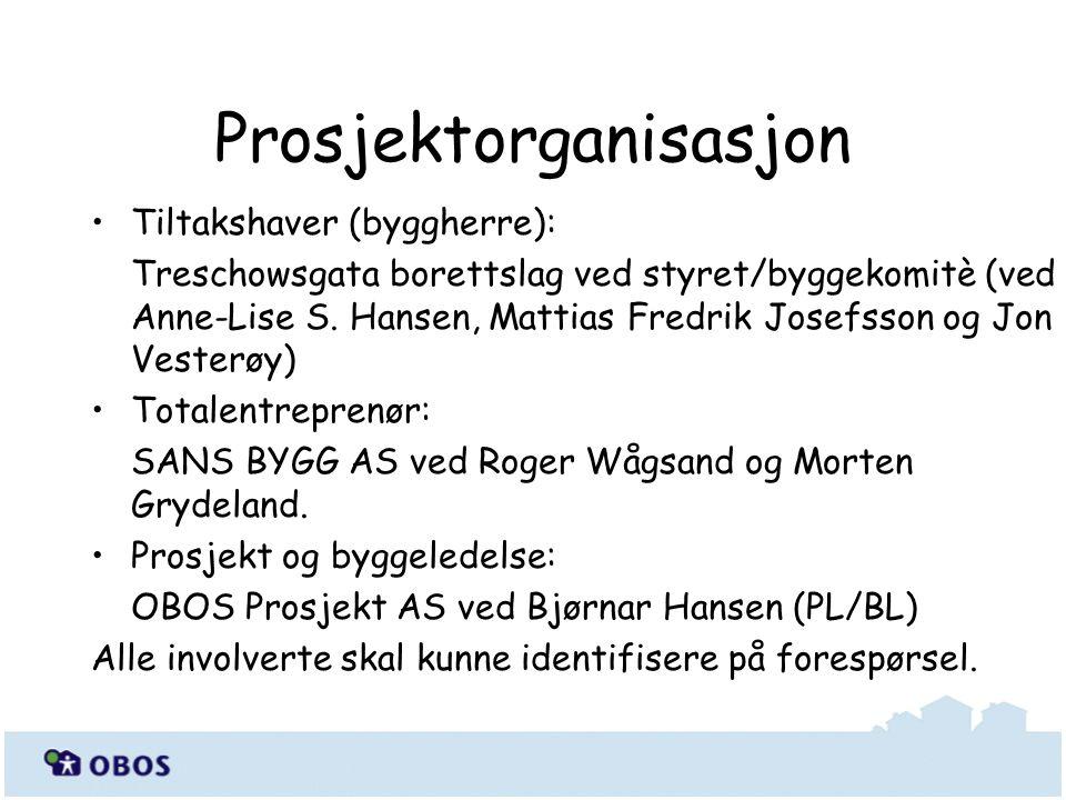 Tiltakshaver (byggherre): Treschowsgata borettslag ved styret/byggekomitè (ved Anne-Lise S. Hansen, Mattias Fredrik Josefsson og Jon Vesterøy) Totalen