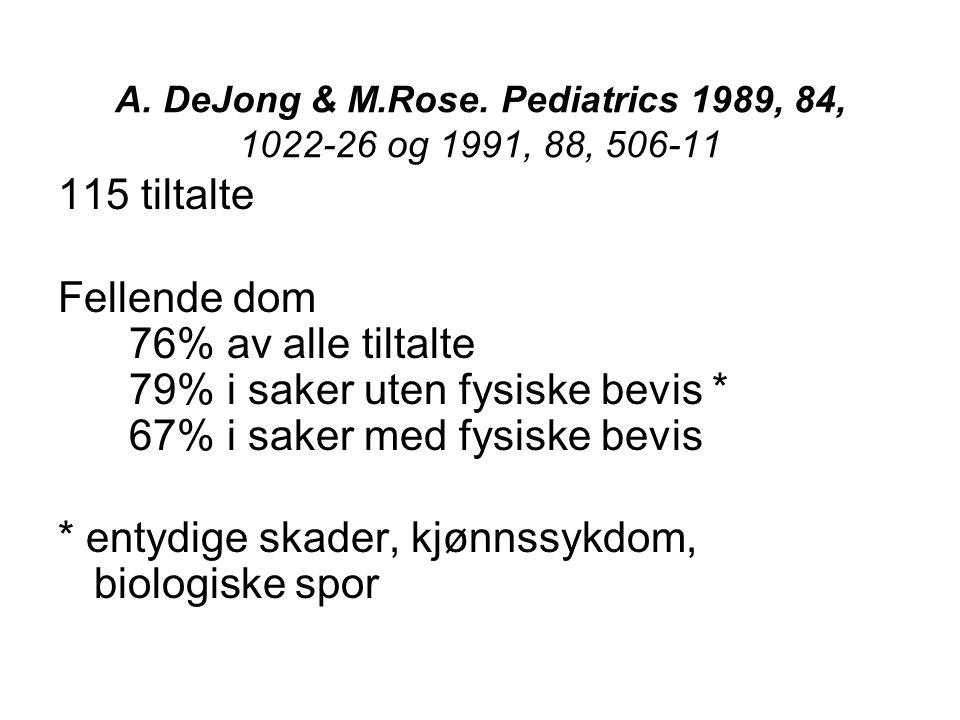 A. DeJong & M.Rose.