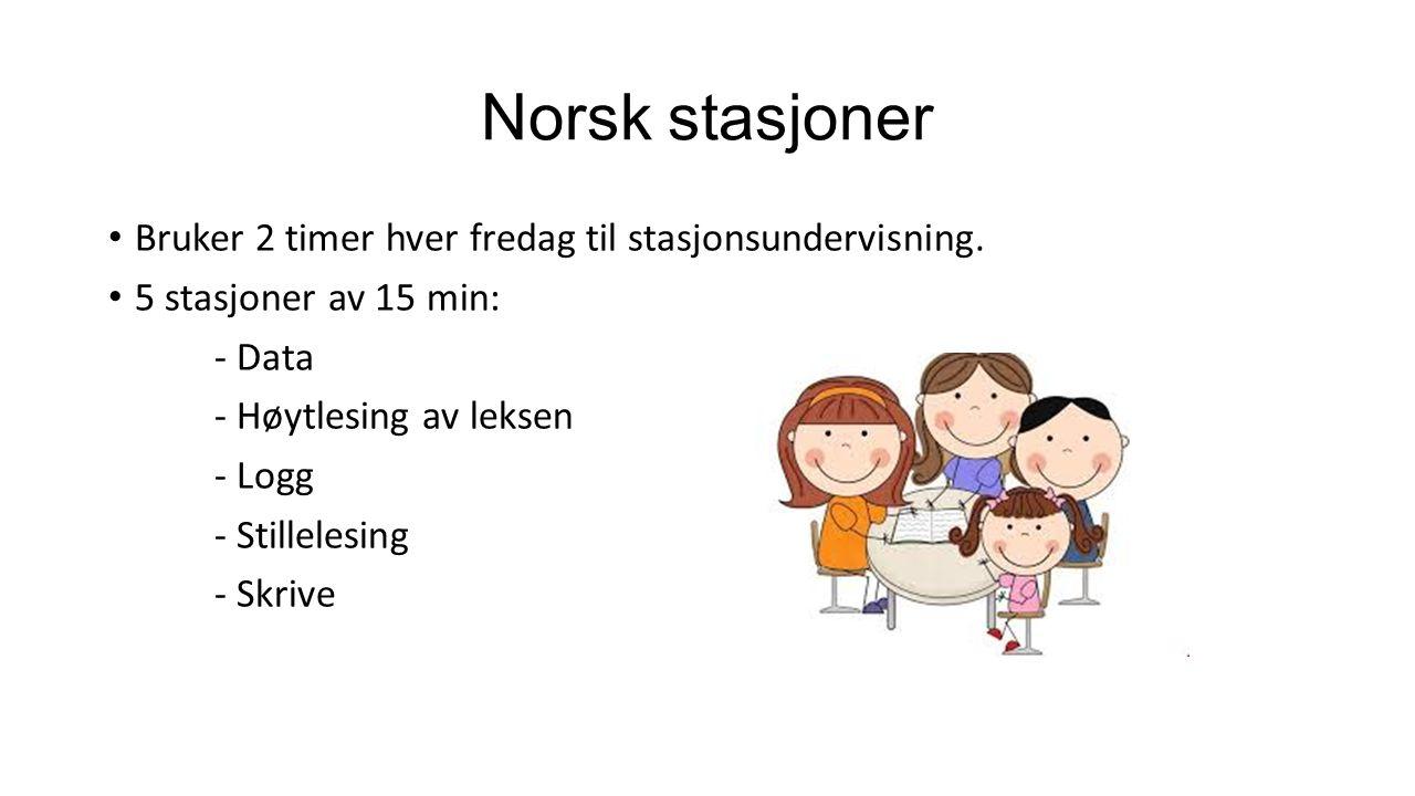 Norsk stasjoner Bruker 2 timer hver fredag til stasjonsundervisning.