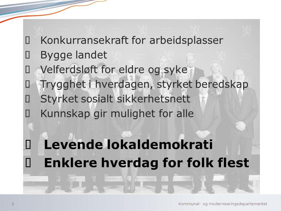 Kommunal- og moderniseringsdepartementet Norsk mal: Tekst uten kulepunkter 14