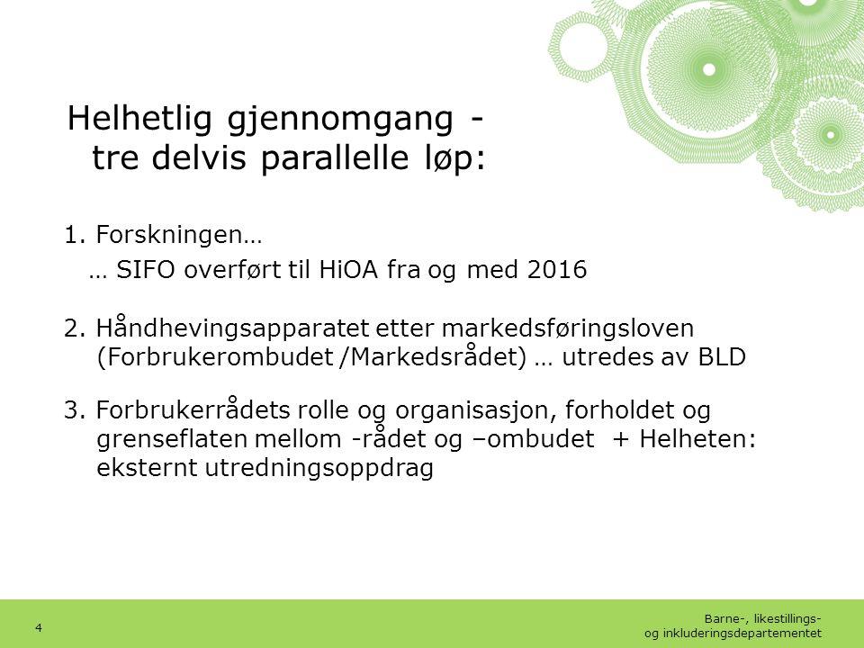 Barne-, likestillings- og inkluderingsdepartementet Norsk mal: Tekst med kulepunkter – 3 vertikale bilder Tips bilde: For best oppløsning anbefales jpgformat.