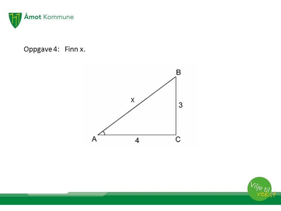 Oppgave 4: Finn x. x X