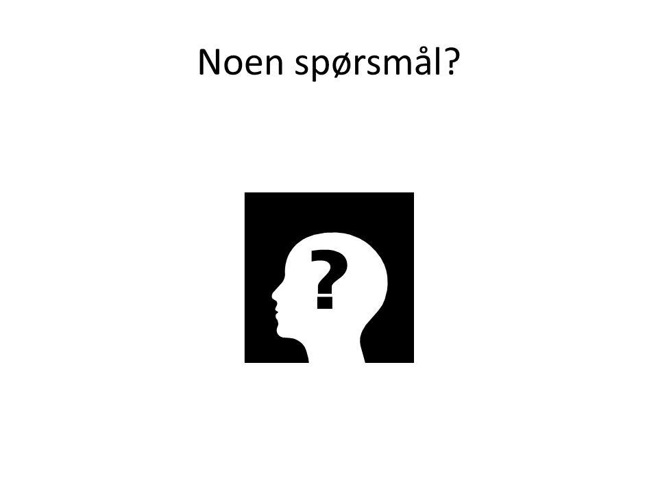 Noen spørsmål?
