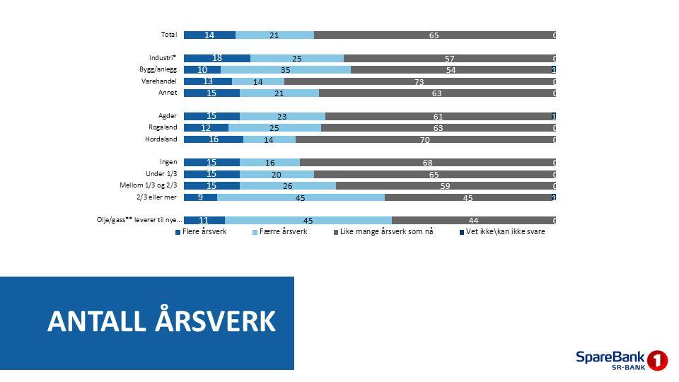 ANTALL ÅRSVERK