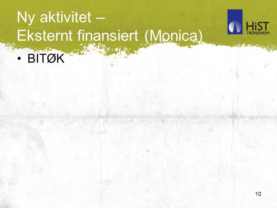 10 Ny aktivitet – Eksternt finansiert (Monica) BITØK