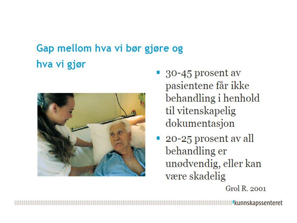  Forskningsoversikter Oppsummeringer av forskningsresultater om effekt av behandling eller tiltak.