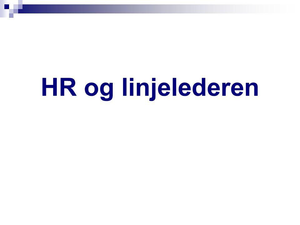 HR og linjelederen