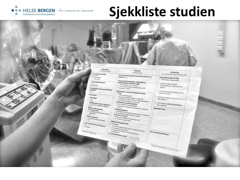 Sjekkliste studien