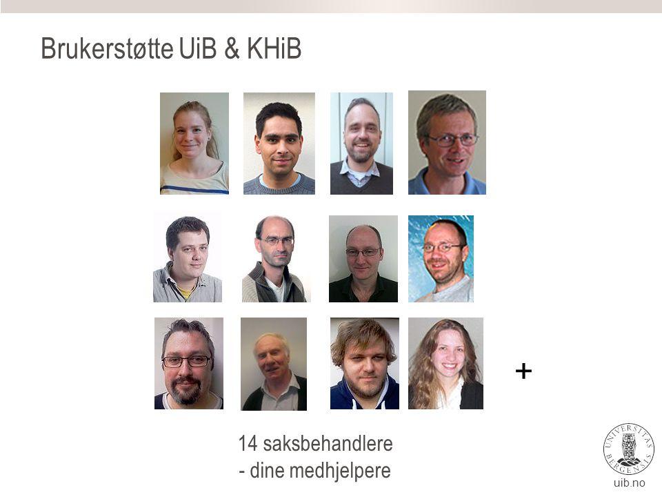 uib.no IT-avdelingen Brukerstøttesenteret Eget tilrettelagt senter for å hjelpe brukere Åpen fra 08:00 – 15:45, man- fre året igjennom